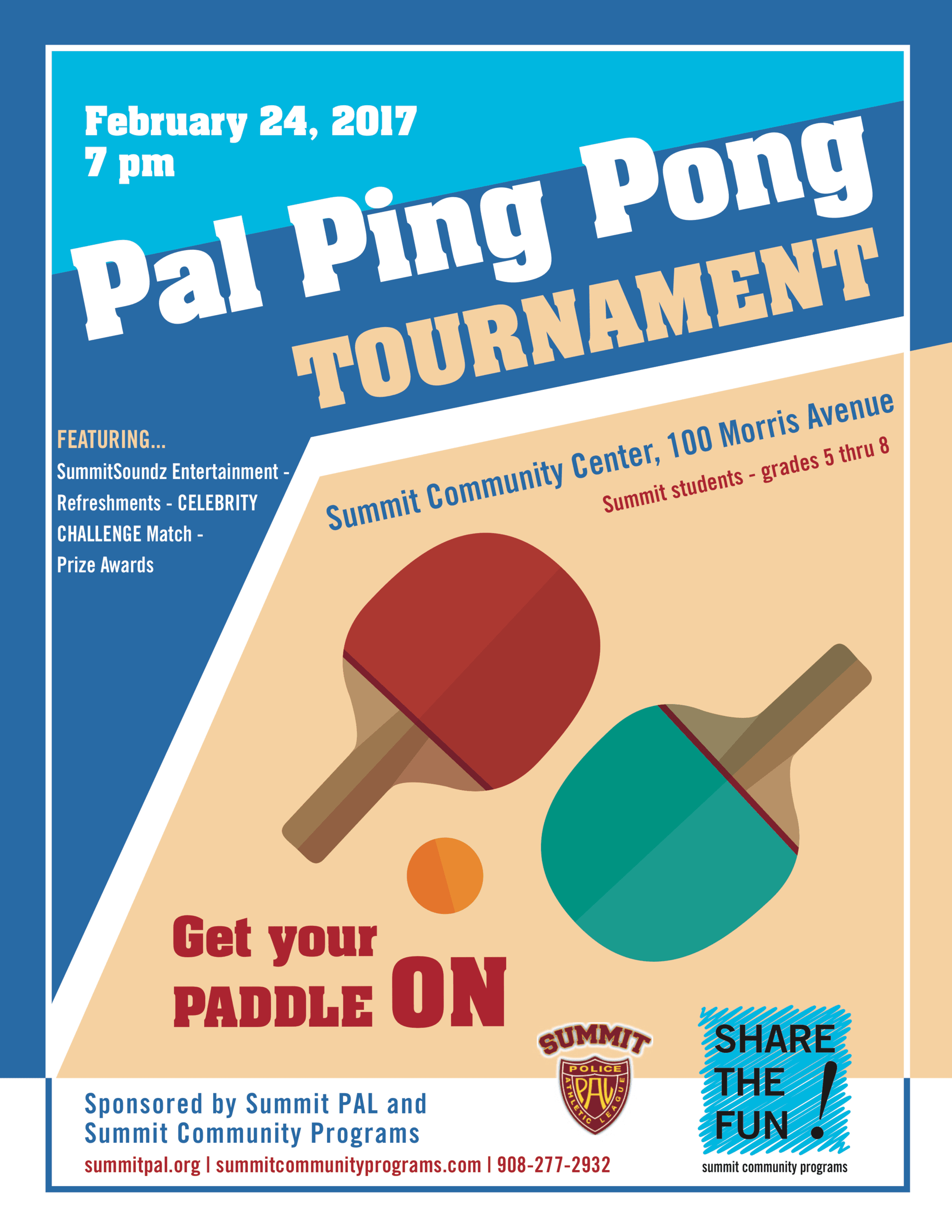 Ping Pong flyer