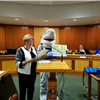 Shark Diddy and Mayor Nora Radest