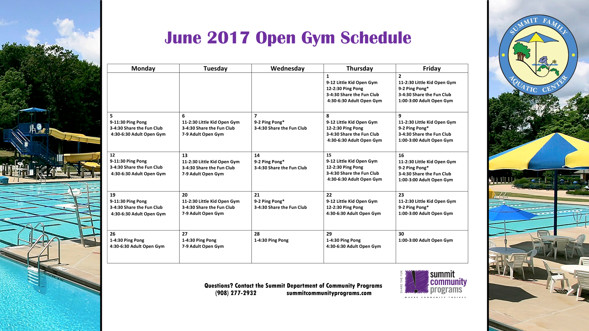 Monthly Schedule June