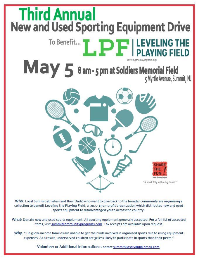 2018 Leveling the Playingfield Flyer