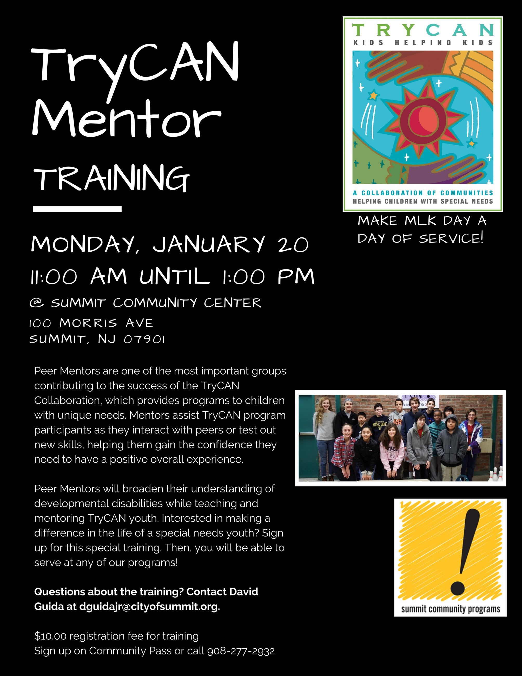 Try can mlk daymentor training 2020