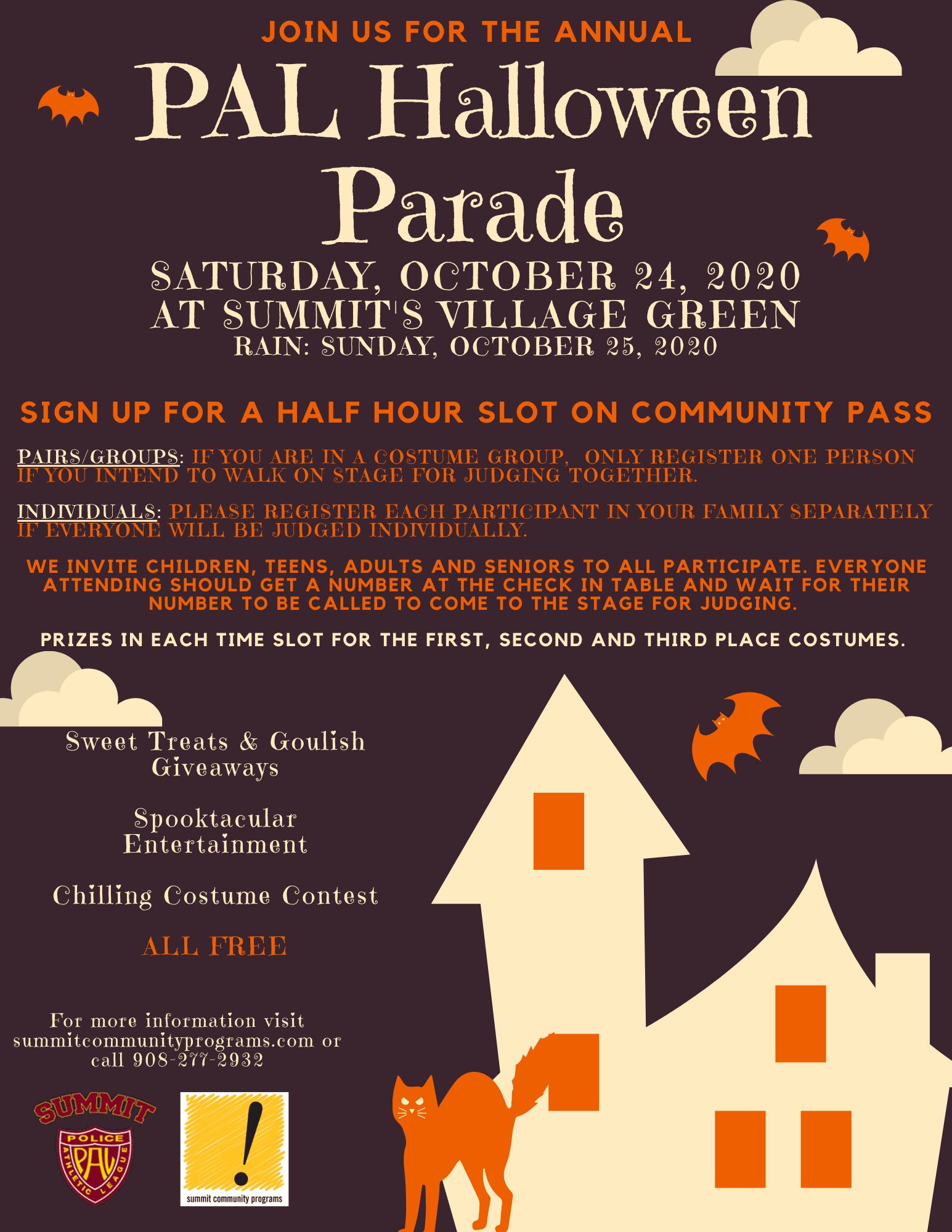Pennsburg Halloween Parade 2020 PAL Halloween Parade | Summit Community Programs, NJ